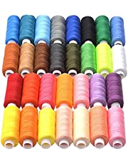Fmystery Sewing Threads Kits 30 Colors DIY Craft Sewing Thread Polyester 250Yards Per Spools for Hand and Machine Sewing