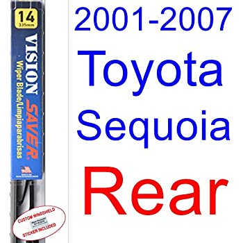 2001-2007 Toyota Sequoia Wiper Blade (Rear) (Saver Automotive Products-Vision Saver) (2002,2003,2004,2005,2006)