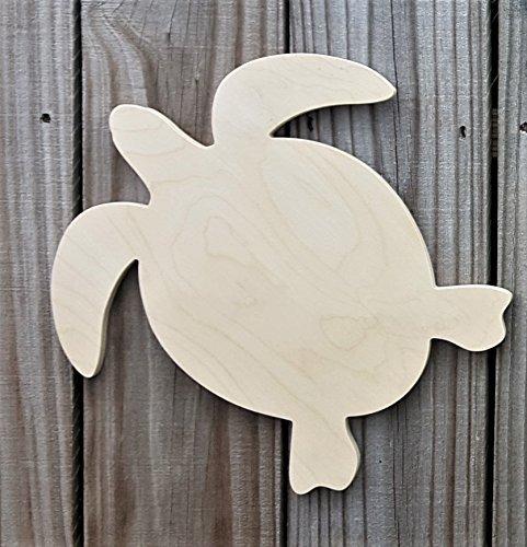 "Handmade Wooden Sea Turtle, Wooden Sea Turtle Cut Out, Craft Sea Turtle, Beach House Decor, Ocean Theme Decor, Nursery Wall Art 8"", 10"" from Acharmed Monograms"