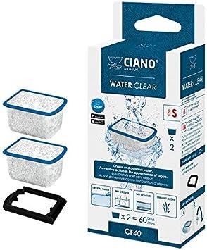 Ciano Water Clear - Cartuchos de filtro para acuario, CF40, 2 unidades