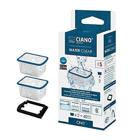 Ciano Water Clear - Cartuchos de filtro para acuario, CF40, 2 unidades: Amazon.es: Productos para mascotas