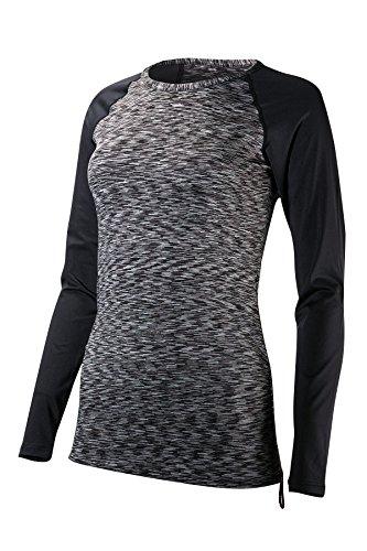 TYR Sonoma Long Sleeve Swim Shirt, Black-001, Large