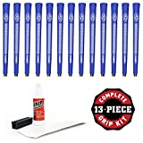 Avon Chamois Jumbo Blue - 13 Piece Golf Grip Kit (with Tape, Solvent, Vise Clamp) (