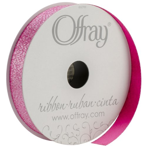 Offray 5/8-Inch Wide Luxe Ribbon, 10-Yard, Raspberry