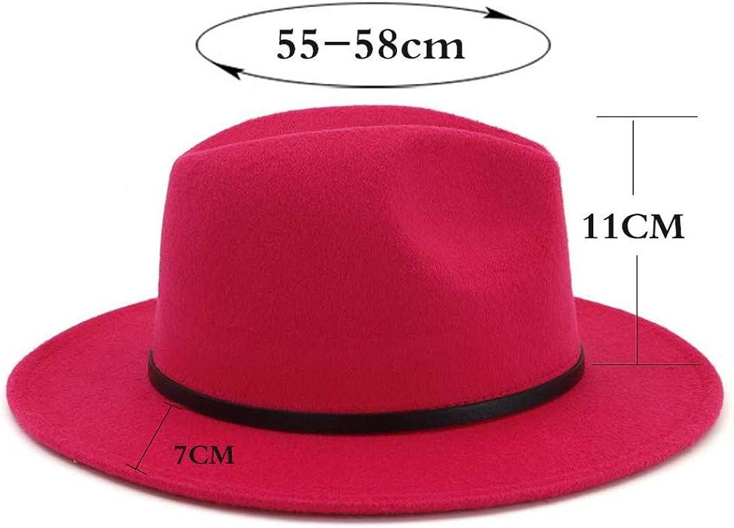 Ron Billy Mens Woolen Hat Wide Brim Jazz Caps Casual Church Cap Women Vintage Panama Fedora Top Felt Hats