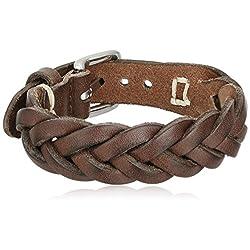 Fossil Men's Braided Leather Bracelet