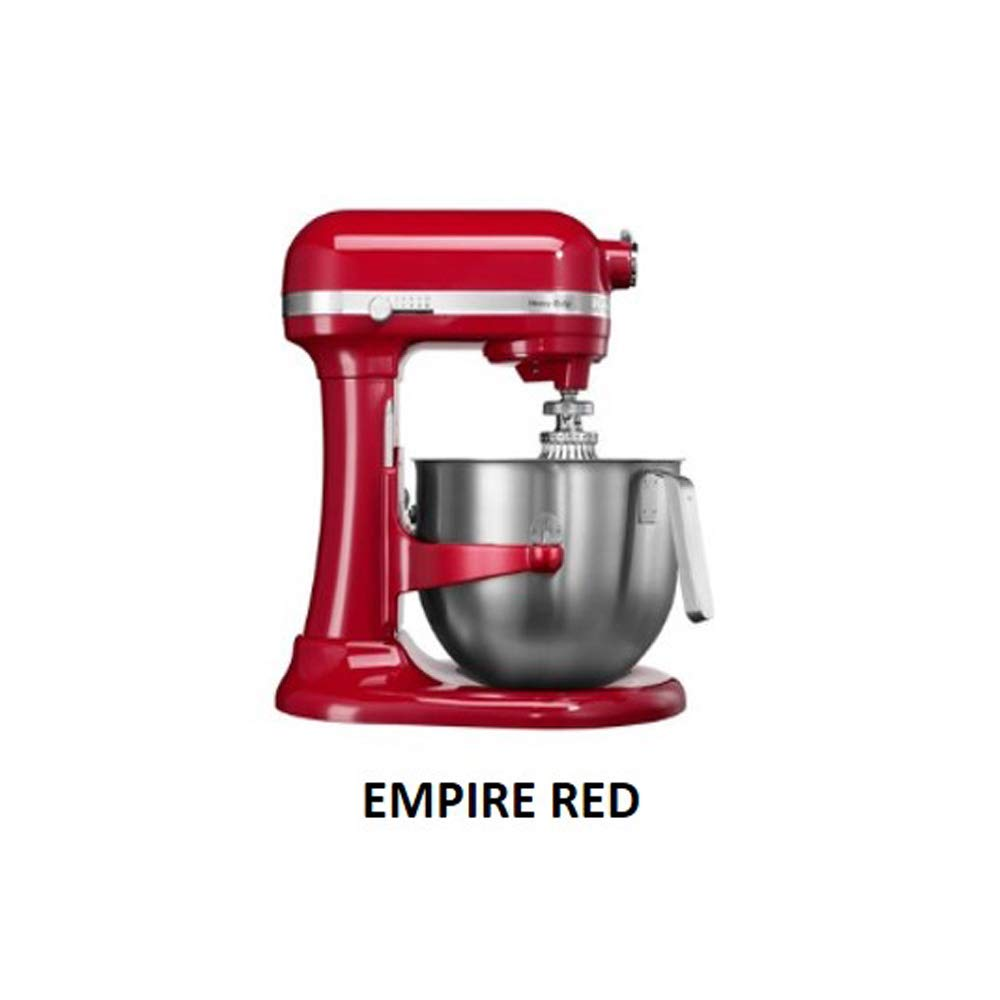 KitchenAid 5KSM7580 7 Qt. 6.6 Liters Stand Mixer 220 Volts Export Only (Empire Red)