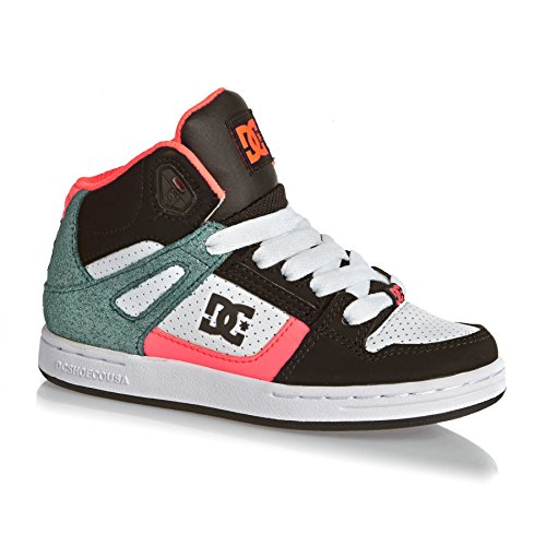 DC Shoes Rebound Se, Zapatillas Altas Para Niñas Multicolor