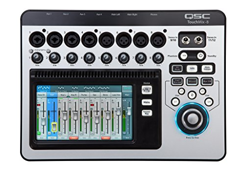 QSC TouchMix-8 Compact Digital Mixer with Bag (Renewed)