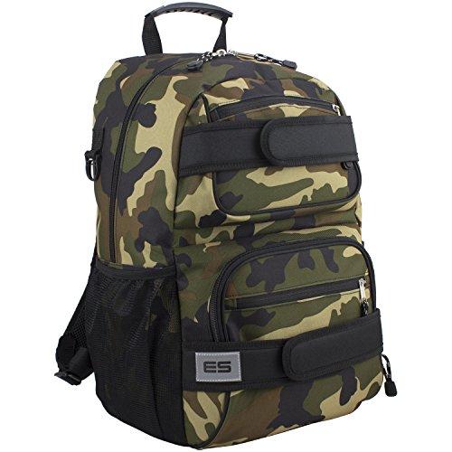 Ice Skate Backpack - Eastsport Double Strap Skater Multipurpose Backpack, Camo