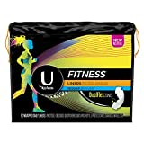 U by Kotex Fitness Pantiliners, Light Absorbency Liners, Regular, Fragrance-Free, 80 Count (Pack of 6)