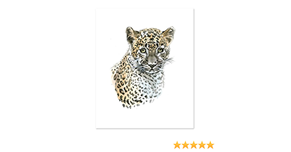 paintings Cute Animal Colorful Leopard Painting for Living Room Kids Room Decor Wall Decor SD038, 24x36inch
