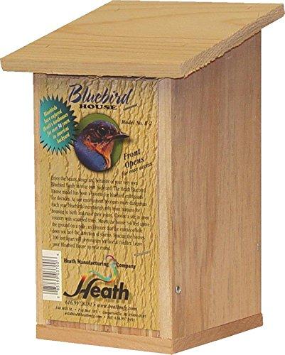 Heath Outdoor Products B-2-2 Bluebird House, 8 x 5 x 11, Wood