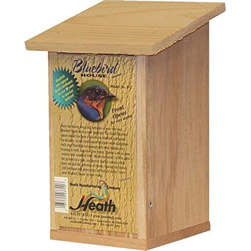 Heath Outdoor Products B-2-2 Bluebird House, 8 x 5 x 11, Wood