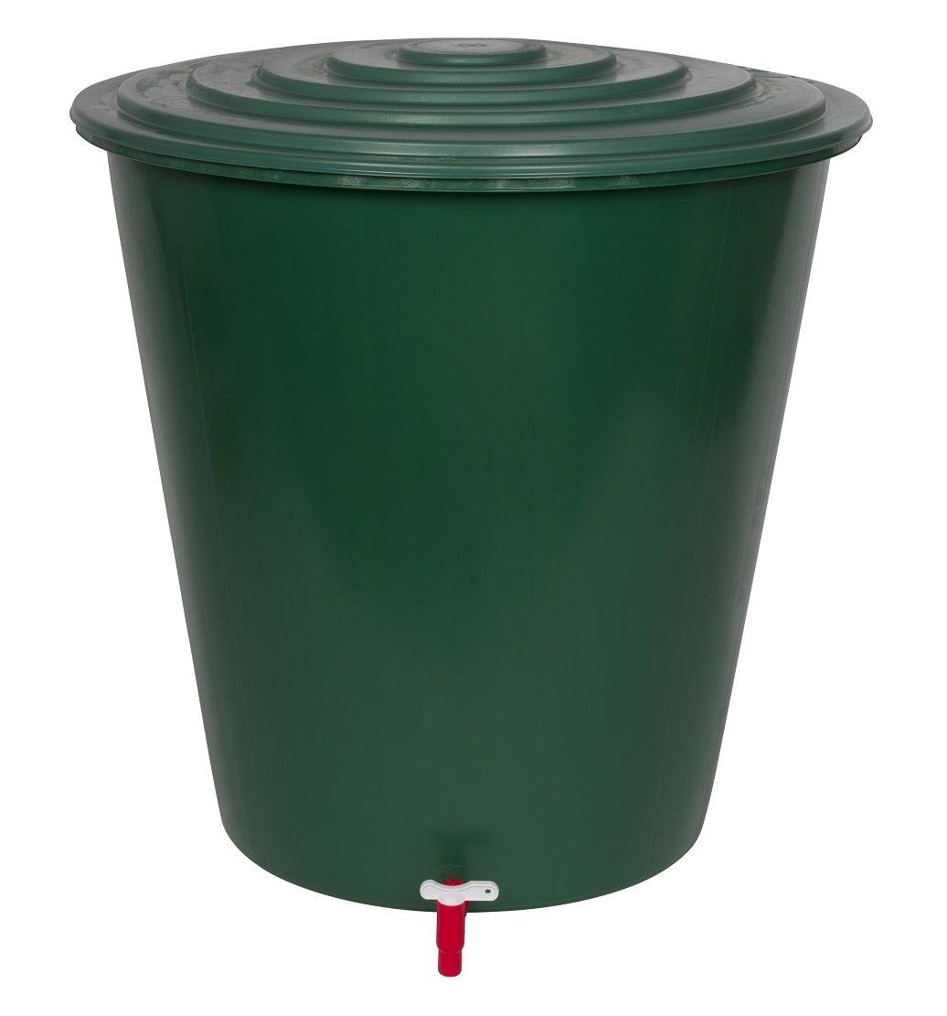 XL Wassertank 210 Liter aus Kunststoff in Grün. Inklusive Wasserhahn (optional zu montieren) und Deckel mit Sicherheitsverschluss! Topp für den Garten! von Kreher