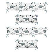 Sweet JoJo Designs Baby Crib Bumper Pad for Bear Mountain Watercolor Collection by
