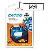 DYMO 91331 LetraTag Plastic Label Tape Cassette, 1/2'' x 13ft, White