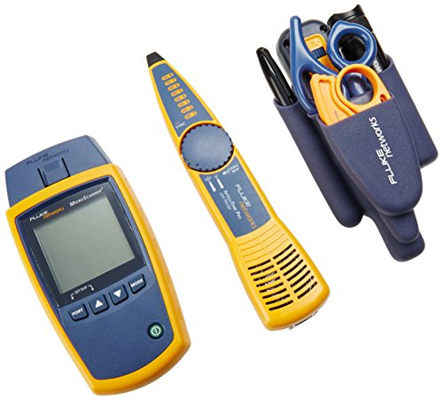 Fluke Networks MS2-TTK MicroScanner2 Network Cable Tester Kit with Punch Down Tool and Tone Generator and Probe - Fluke Networks Microscanner