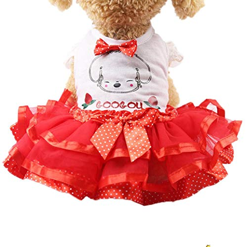 Goddessvan Dog Wedding Dress Fruit Design Skirt Summer Luxury Princess Pet Clothes