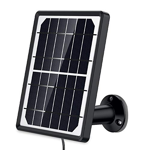 SDETER Solar Panel Power Supply for Wireless Outdoor Rechargeable Battery Powered IP WiFi Security Camera ()