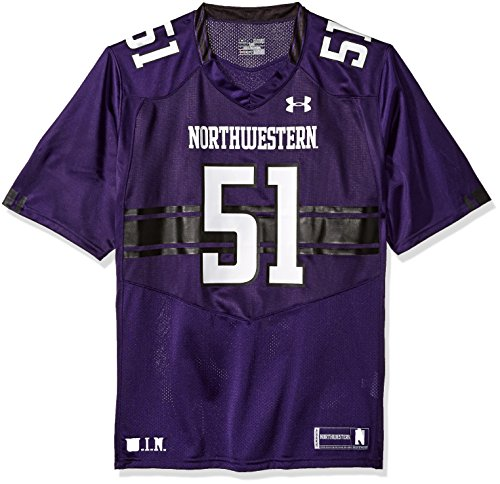 Under Armour NCAA Northwestern Wildcats #51 Men's Official Sideline Jersey, X-Large, Purple