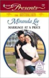 Marriage at a Price, Miranda Lee, 0373121814