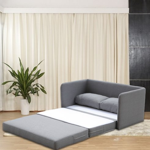Sleeper Loveseat - Convertible to Full Size Small Sofa Bed - Contemporary Upholstered Two Seat Furniture ()