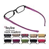 ベイライン ネックリーダーズ Bayline neck readers PC機能付き リーディンググラス(老眼鏡) +2.00 ブラック-ストライプ