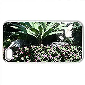 Amazing day at Edmonton garden 16 - Case Cover for iPhone 4 and 4s (Flowers Series, Watercolor style, White)