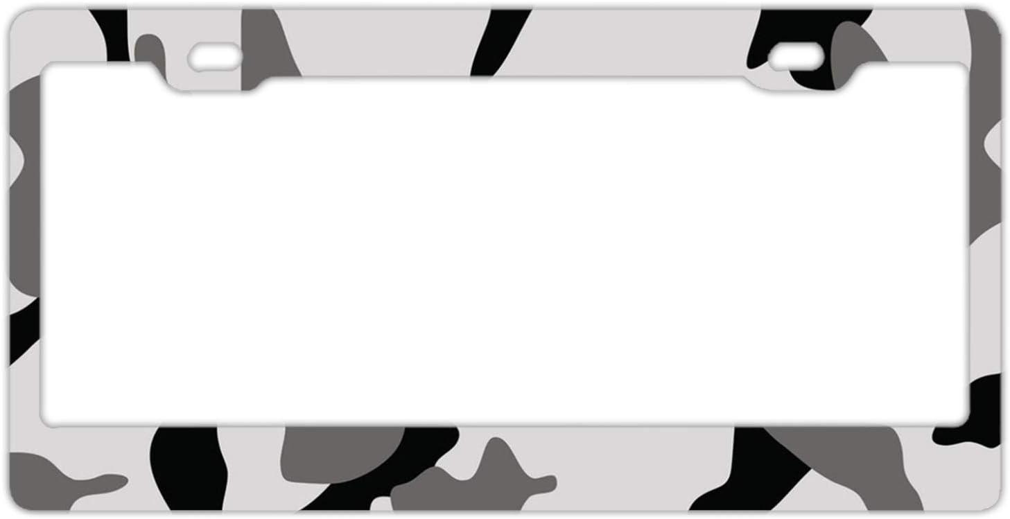 WINTERSUNNY Retro Tribal Patchwork Metal License Plate Frame Car Vehicle Decor