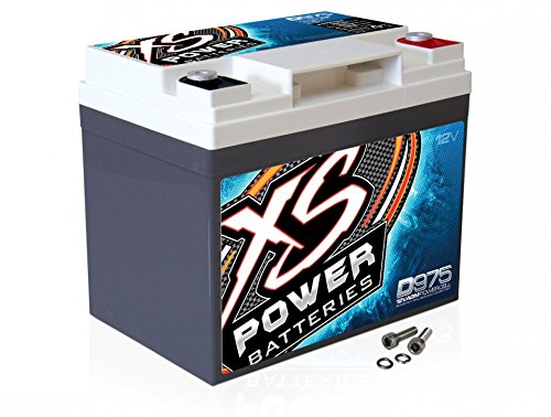 XS Power D975 XS Series 12V 2, 100 Amp AGM High Output Battery with M6 Terminal Bolt