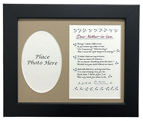 (All Things For Mom Dear Mother In Law Picture Frame with Burlap Mat (8