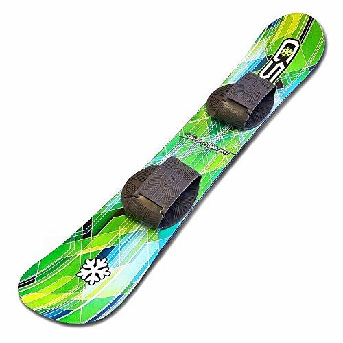 Snow Daze 110 cm Green Pattern Kids Beginner Snowboard (Snowboard 110cm)