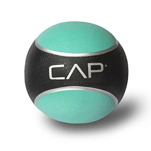 CAP Rubber Medicine Ball, 2-Pound, Teal
