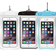 "3PACK Waterproof Case Universal CellPhone Dry Bag Pouch CaseHQ for Apple iPhone 6S, 6, 6S Plus, SE, 5S, Samsung Galaxy S7, S6 HTC LG Sony Nokia Motorola up to 5.7"" diagona"