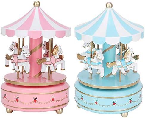 AUNMAS Carillon Carillon Giocattolo per Bambini Carillon girotondo per Natale Regalo di Compleanno per Le Nozze Regalo per la Ragazza 1#