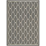 Cheap Safavieh Courtyard Collection CY6016-246 Anthracite and Beige Indoor/Outdoor Area Rug (5'3″ x 7'7″)