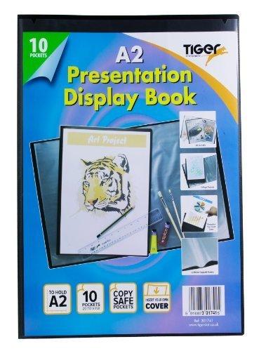 Tiger - Portalistino a 10 buste formato A2, copertina nera Tiger Stationery 301741