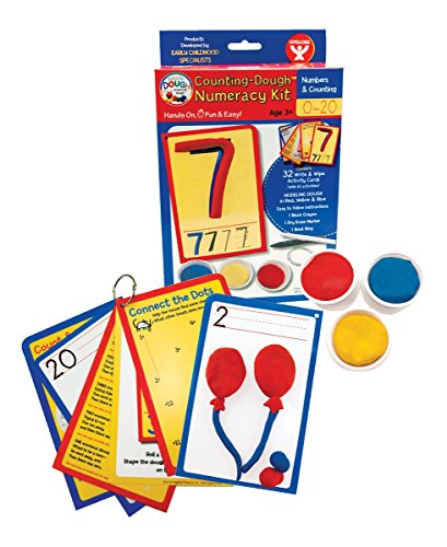 (Hygloss Products, Play Dough Numeracy Kit, Numbers 1-20, 32 Write & Wipe Cards with)