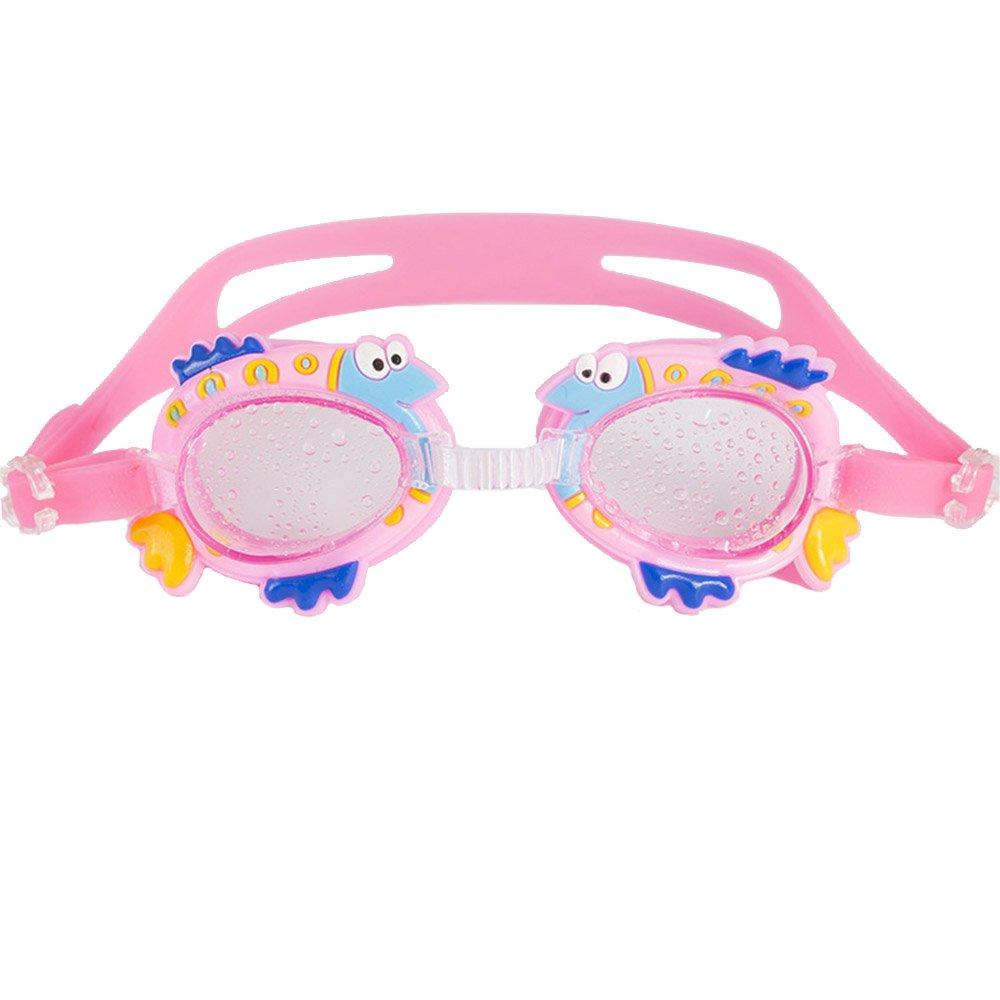 【人気No.1】 Cute Swim Cartoon Kids Swim Goggles子供ジュニアクリアレンズアンチフォグ防水 Cute ピンク ピンク B06VWYQM58, Gambaru ショップ:95739ba1 --- senas.4x4.lt