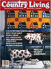 Country living february 1985 folk art in a city apartment for Country living magazine recipes