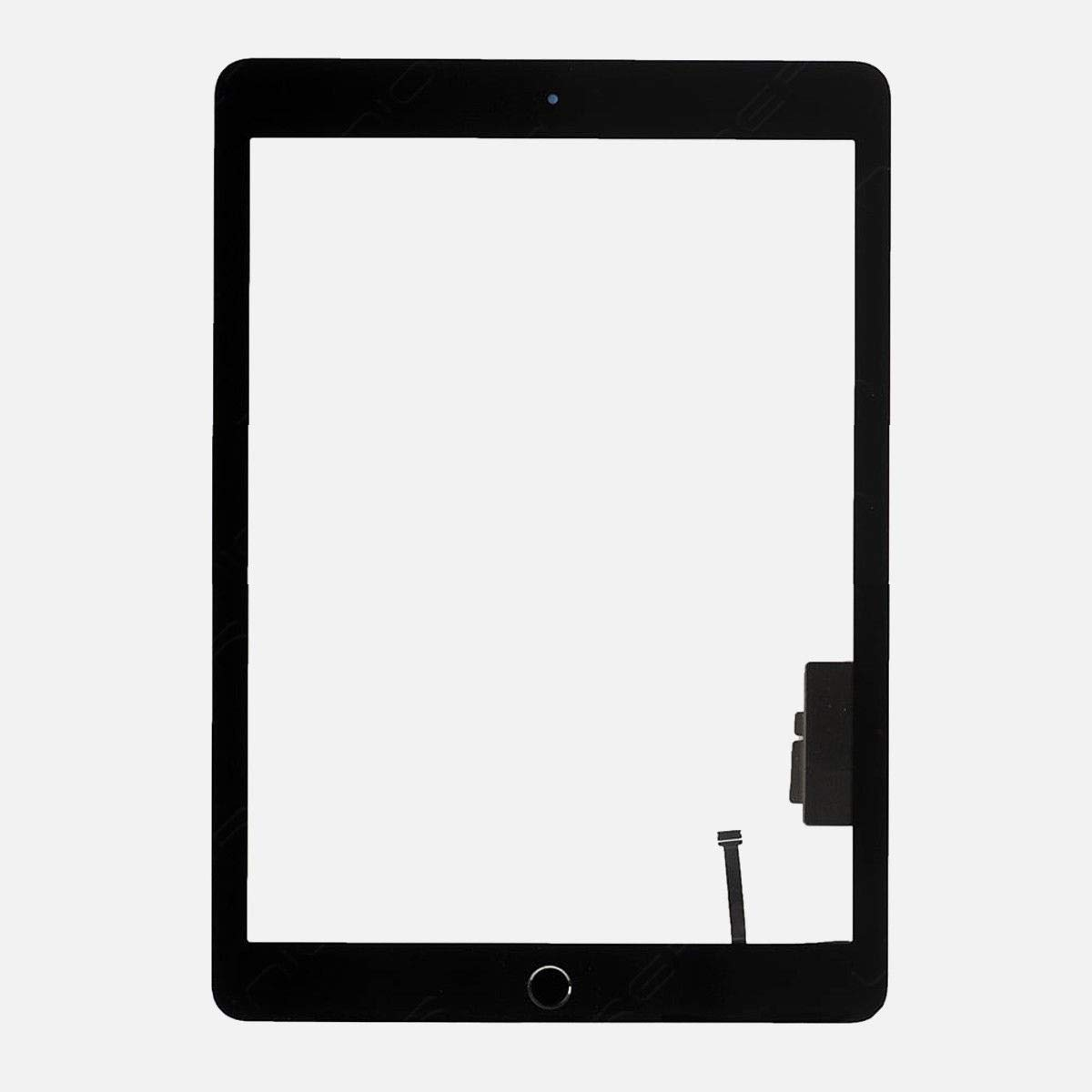 BESTeck Black Digitizer Repair Replacement Kit for iPad 9.7'' (2018) iPad 6 6th Gen A1893 A1954 Touch Screen Digitizer with Home Button, Pre-installed Adhesive and Tools