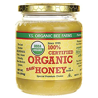 Y.S. Eco Bee Farms 100% Certified Organic Raw Honey 1 lb (454 grams) Paste from Y.S. Eco Bee Farms