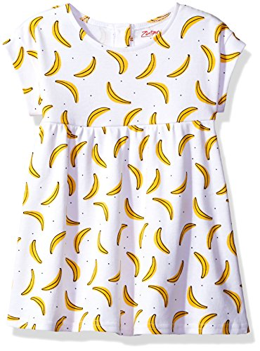 Zutano Baby Girls' Garden Dress, Banana Split, 18M (12-18 Months) (Dress Baby Zutano)