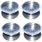 LEORX 10pcs Double Sided Suction Cups - Sucker Pads for Glass, Plastic - 30mm Width