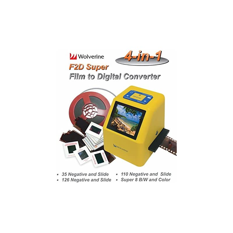 Wolverine F2D Super 20MP 4-In-1 Film to