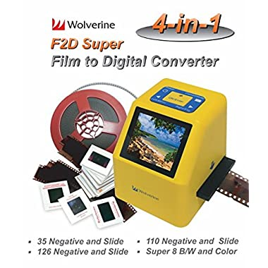 Wolverine F2D Super 20MP 4-In-1 Film to Digital Converter