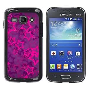 Caucho caso de Shell duro de la cubierta de accesorios de protección BY RAYDREAMMM - Samsung Galaxy Ace 3 GT-S7270 GT-S7275 GT-S7272 - Purple Vibrant Glitter Pattern