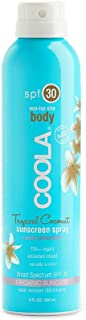 product image for COOLA Organic Sunscreen & Sunblock Spray, Skin Care for Daily Protection, Broad Spectrum SPF 30, Reef Safe, Tropical Coconut