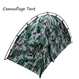 GDSZ Camping Tent Lightweight Waterproof Portable Folding Camouflage Tent Fiberglass Oxford Hiking 1 Person Tent Beach Fishing Hunting